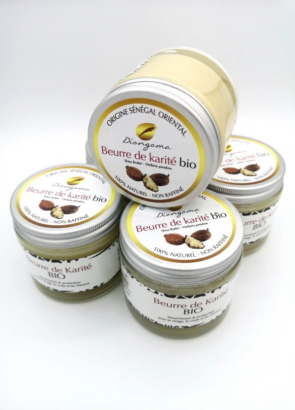 Quatre pots de Beurre de Karité