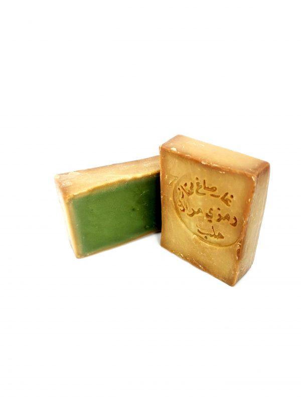 Une vue de savon d'Alep à l'huile d'olive